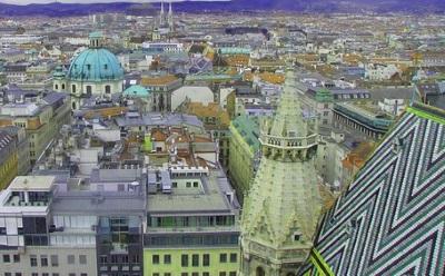 Blick von oben (Turm Stehansdom)