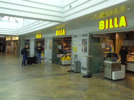 Billa Supermarkt Flughafen Wien