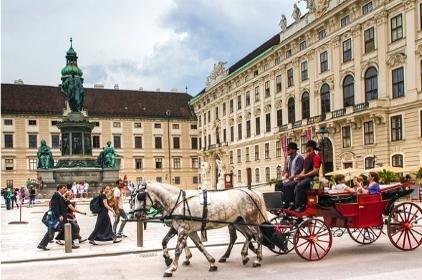 Kutsche vor Wiener Hofburg