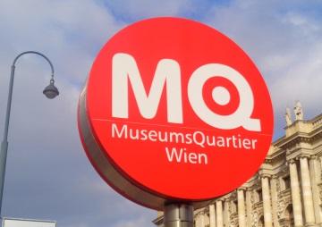 Schild Museumsquartier Wien